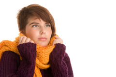 Woman wearing warm clothes Stock Image
