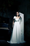 Woman wearing wedding dress Royalty Free Stock Photography