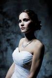 Woman wearing wedding dress. Sexy woman wearing wedding dress Royalty Free Stock Photos