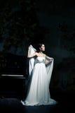 Woman wearing wedding dress Stock Photography