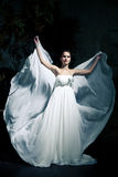 Woman wearing wedding dress Royalty Free Stock Photos