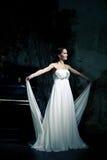 Woman wearing wedding dress. Sexy woman wearing wedding dress Royalty Free Stock Images