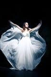 Woman wearing wedding dress Royalty Free Stock Photo
