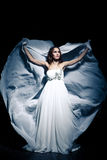 Woman wearing wedding dress Royalty Free Stock Images