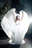 Woman wearing wedding dress. Sexy woman wearing wedding dress Royalty Free Stock Photography
