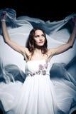 Woman wearing wedding dress. Sexy woman wearing wedding dress Stock Photo