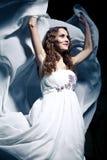 Woman wearing wedding dress. Sexy woman wearing wedding dress Royalty Free Stock Photo