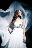 Woman wearing wedding dress Stock Photo