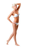 Woman wearing white underwear portrait Stock Photography