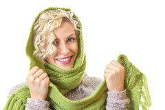 Woman wearing winter clothes Royalty Free Stock Photos