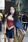 Woman wearing wonder woman costume at NY Comic Con Stock Photography