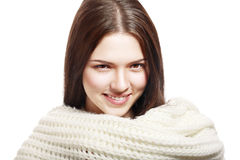 Woman wearing woolen Stock Image