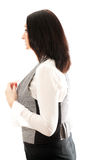 Woman wears a vest Stock Image