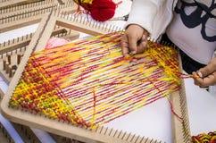 Woman Weaver Royalty Free Stock Image