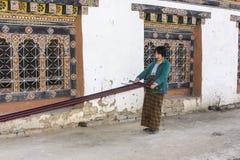 Woman weaving Stock Photography
