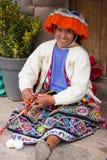 Woman Weaving stock photo