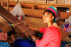 Woman weaving, Thailand Royalty Free Stock Images
