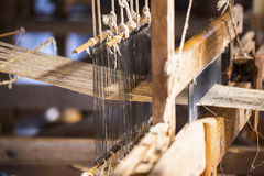 Woman Weaving Stock Image