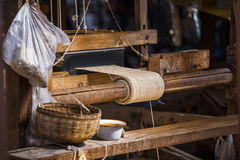 Woman Weaving Royalty Free Stock Photography