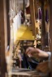 Woman Weaving Stock Photos