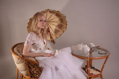 Woman in wedding dress Stock Photography