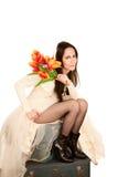 Woman in a Wedding Dress Stock Photos