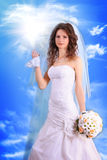 woman with in wedding dress Royalty Free Stock Photo