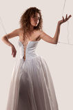 Woman in a wedding dress Royalty Free Stock Image