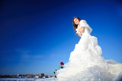 Woman in wedding dress Stock Photo