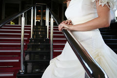Woman in wedding dress Royalty Free Stock Images