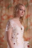 Woman in wedding dress Royalty Free Stock Image