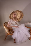 Woman in wedding dress Royalty Free Stock Photography