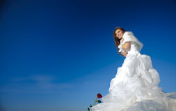 Woman in wedding dress Stock Image