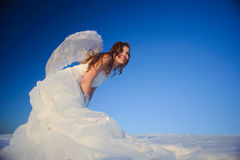 Woman in wedding dress Royalty Free Stock Photos
