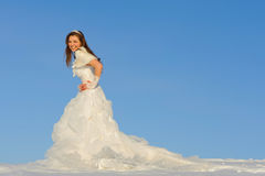 Woman in wedding dress Stock Photos