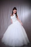 Woman in wedding gown. Stock Photos