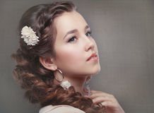 Woman Wedding Model Royalty Free Stock Photography