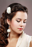 Woman Wedding Model Stock Photo