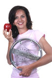Woman with weigh Stock Image