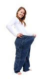Woman Weight Loss Stock Images