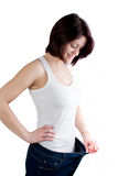 Woman weight loss Royalty Free Stock Photo