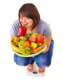 Woman weight loss on scales. Stock Photography