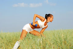 Woman Weight Training Royalty Free Stock Photo