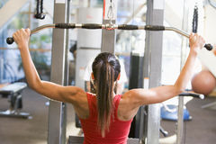 Woman Weight Training At Gym Royalty Free Stock Images