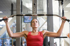 Woman Weight Training At Gym Royalty Free Stock Image