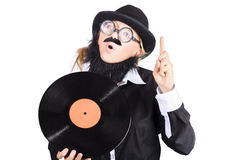 Woman disc jockey Royalty Free Stock Image
