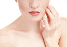 Woman with well-groomed skin. Stock Photos
