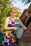 Woman at well Royalty Free Stock Image