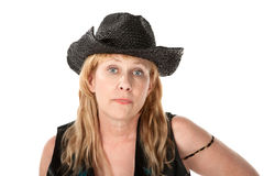 Woman in western wear Stock Photos