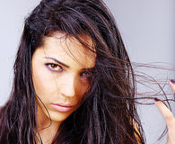 Woman with wet hair Stock Photography